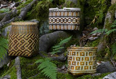 Cherokee art 3 baskets 0