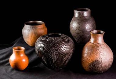 Cherokee art 5pots