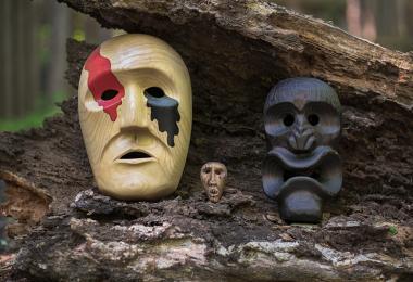 Cherokee art masks 0