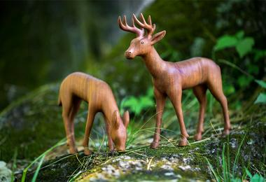 Cherokee art two deer 0