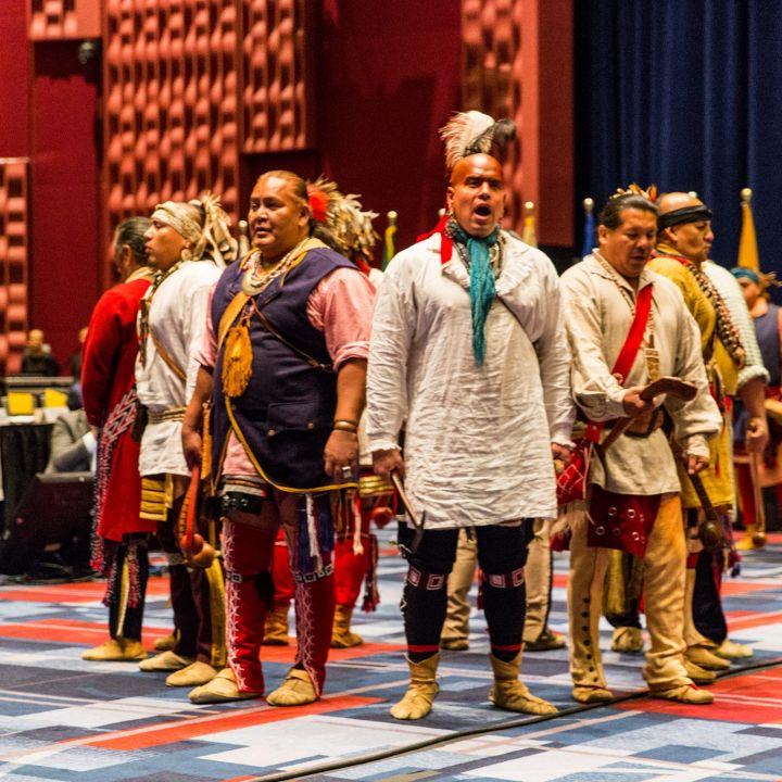 National Arts Club Dining Room: The Warriors Of AniKituhwa: Bringing Cherokee Dance And