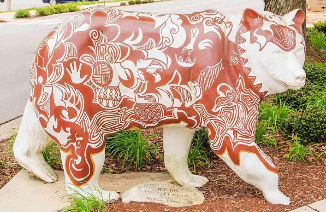 Pottery Bear Cherokee Nc